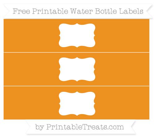 Free Carrot Orange Water Bottle Labels