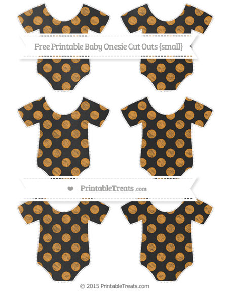 Free Carrot Orange Dotted Pattern Chalk Style Small Baby Onesie Cut Outs