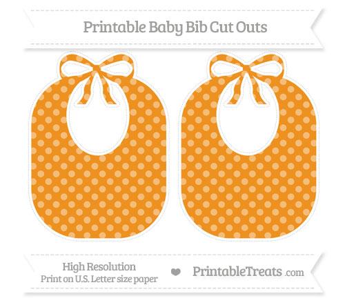Free Carrot Orange Dotted Pattern Large Baby Bib Cut Outs