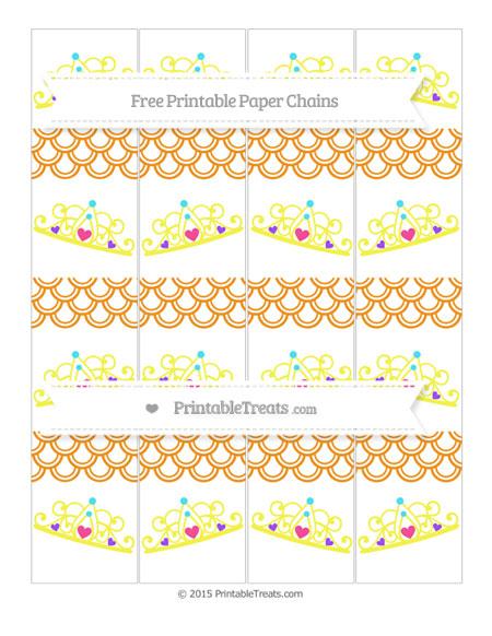 Free Carrot Orange Fish Scale Pattern Princess Tiara Paper Chains