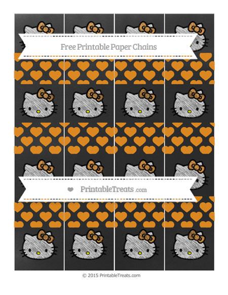 Free Carrot Orange Heart Pattern Chalk Style Hello Kitty Paper Chains