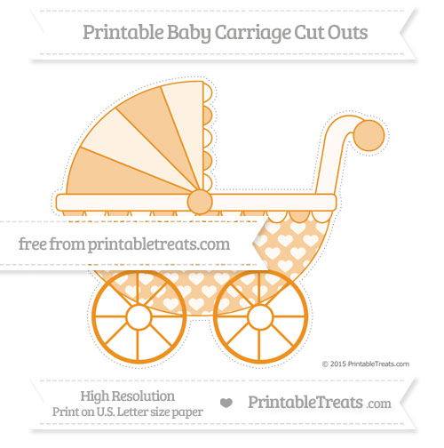 Free Carrot Orange Heart Pattern Extra Large Baby Carriage Cut Outs