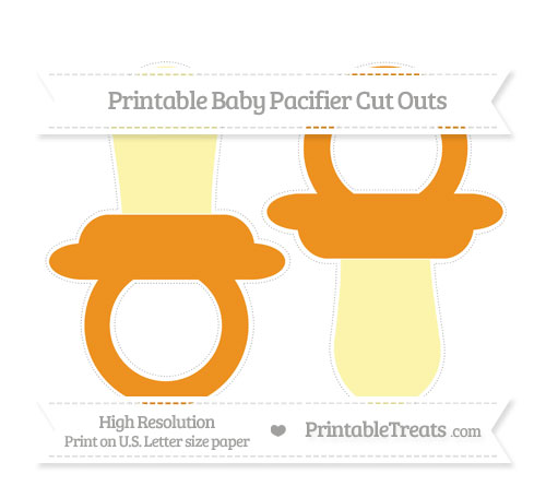 Free Carrot Orange Large Baby Pacifier Cut Outs