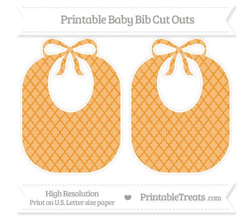Free Carrot Orange Moroccan Tile Large Baby Bib Cut Outs