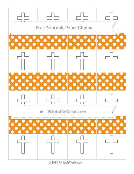 Free Carrot Orange Polka Dot Cross Paper Chains