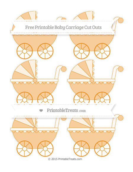 Free Carrot Orange Small Baby Carriage Cut Outs