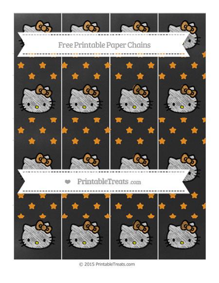 Free Carrot Orange Star Pattern Chalk Style Hello Kitty Paper Chains