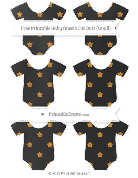 Free Carrot Orange Star Pattern Chalk Style Small Baby Onesie Cut Outs