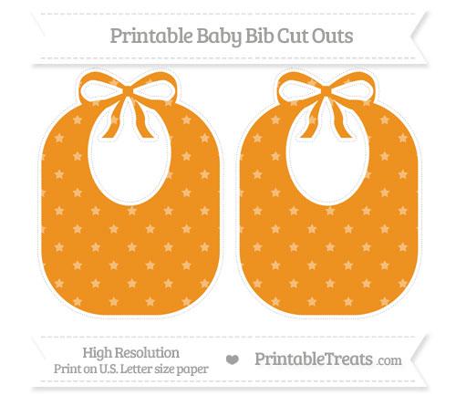 Free Carrot Orange Star Pattern Large Baby Bib Cut Outs