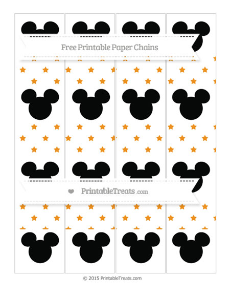 Free Carrot Orange Star Pattern Mickey Mouse Paper Chains