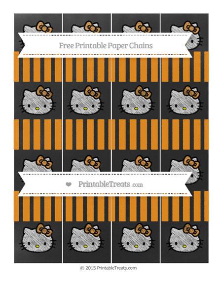 Free Carrot Orange Striped Chalk Style Hello Kitty Paper Chains