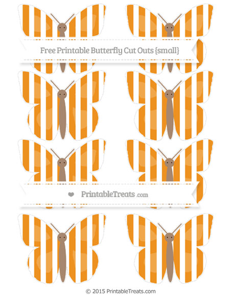 Free Carrot Orange Striped Small Butterfly Cut Outs
