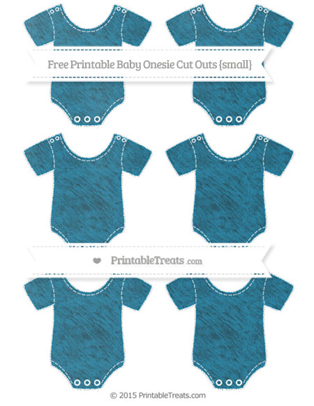 Free Cerulean Blue Chalk Style Small Baby Onesie Cut Outs