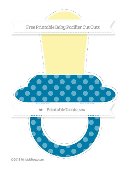 Free Cerulean Blue Dotted Pattern Extra Large Baby Pacifier Cut Outs