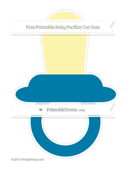 Free Cerulean Blue Extra Large Baby Pacifier Cut Outs