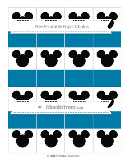 Free Cerulean Blue Mickey Mouse Paper Chains