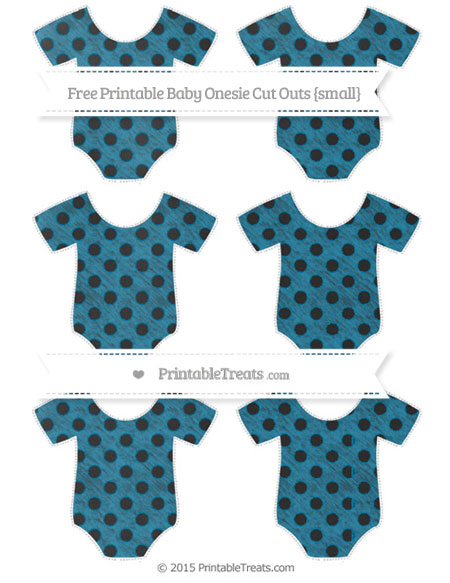 Free Cerulean Blue Polka Dot Chalk Style Small Baby Onesie Cut Outs