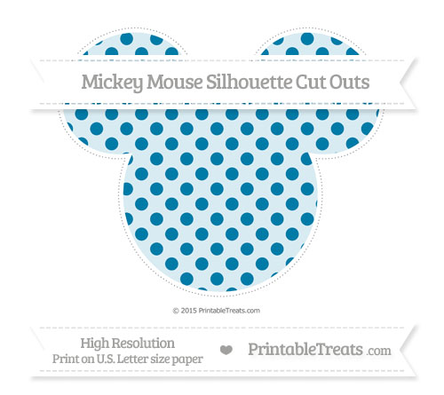 Free Cerulean Blue Polka Dot Extra Large Mickey Mouse Silhouette Cut Outs