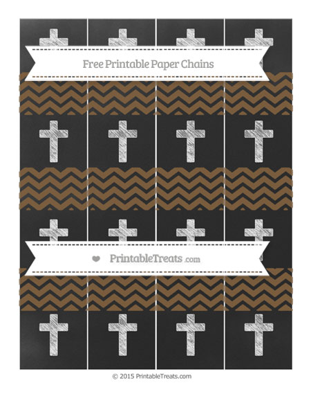 Free Coyote Brown Chevron Chalk Style Cross Paper Chains