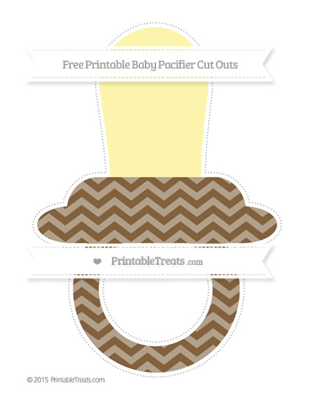 Free Coyote Brown Chevron Extra Large Baby Pacifier Cut Outs