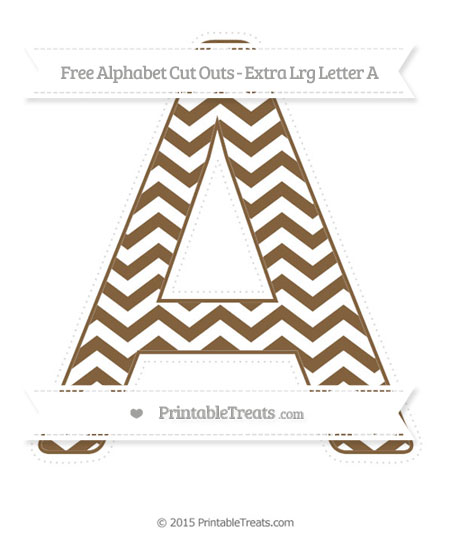 Free Coyote Brown Chevron Extra Large Capital Letter A Cut Outs