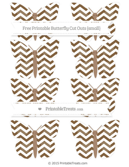 Free Coyote Brown Chevron Small Butterfly Cut Outs