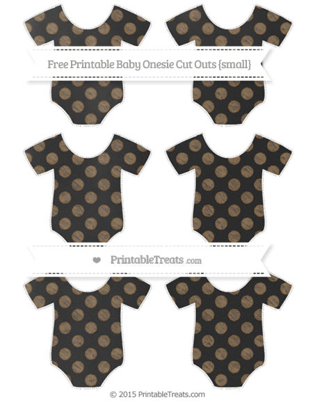 Free Coyote Brown Dotted Pattern Chalk Style Small Baby Onesie Cut Outs