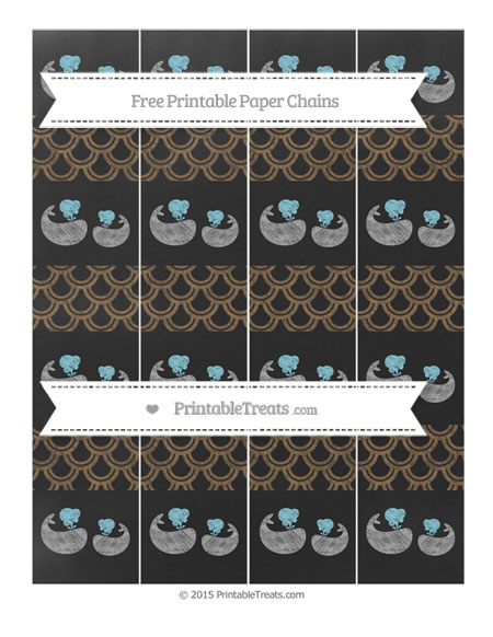 Free Coyote Brown Fish Scale Pattern Chalk Style Baby Whale Paper Chains