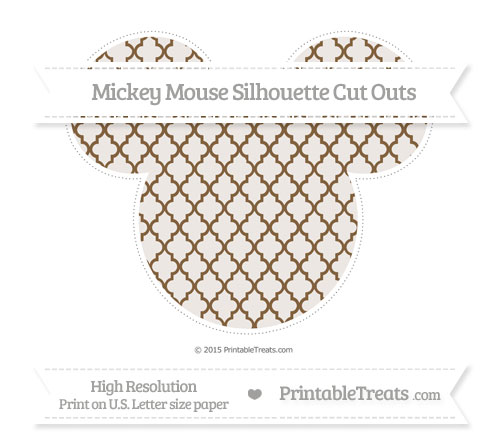 Free Coyote Brown Moroccan Tile Extra Large Mickey Mouse Silhouette Cut Outs