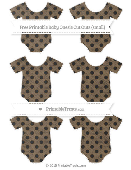 Free Coyote Brown Polka Dot Chalk Style Small Baby Onesie Cut Outs
