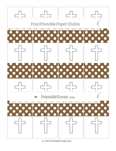 Free Coyote Brown Polka Dot Cross Paper Chains