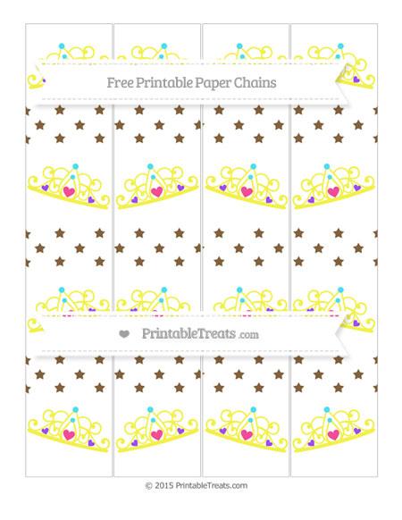 Free Coyote Brown Star Pattern Princess Tiara Paper Chains