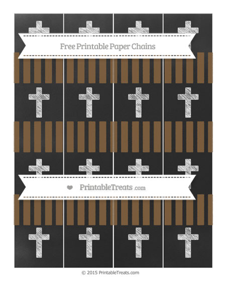 Free Coyote Brown Striped Chalk Style Cross Paper Chains