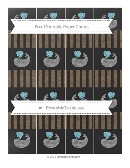 Free Coyote Brown Striped Chalk Style Whale Paper Chains