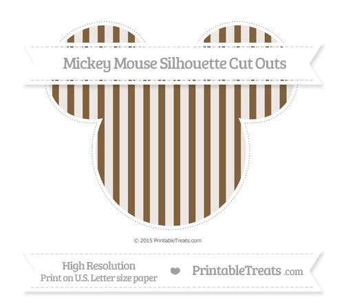 Free Coyote Brown Striped Extra Large Mickey Mouse Silhouette Cut Outs