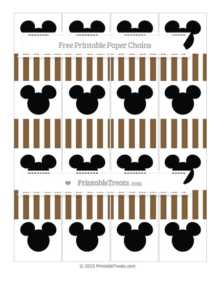 Free Coyote Brown Striped Mickey Mouse Paper Chains