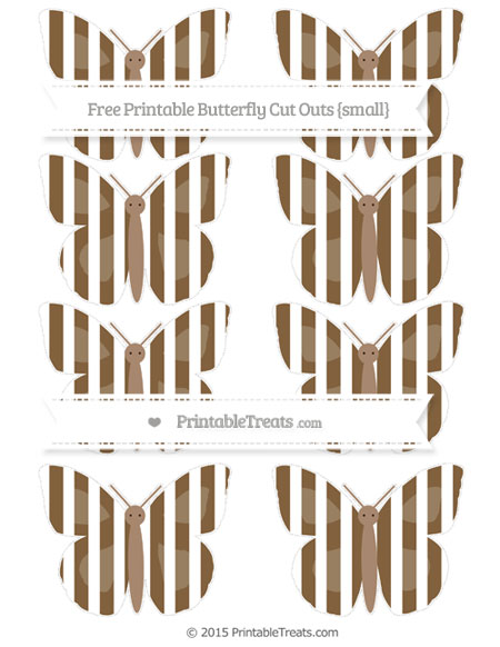 Free Coyote Brown Striped Small Butterfly Cut Outs