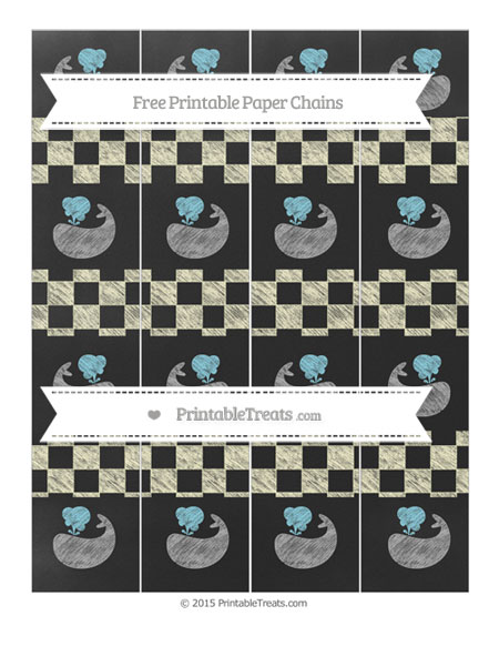 Free Cream Checker Pattern Chalk Style Whale Paper Chains