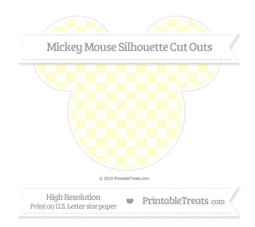 Free Cream Checker Pattern Extra Large Mickey Mouse Silhouette Cut Outs