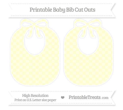 Free Cream Checker Pattern Large Baby Bib Cut Outs
