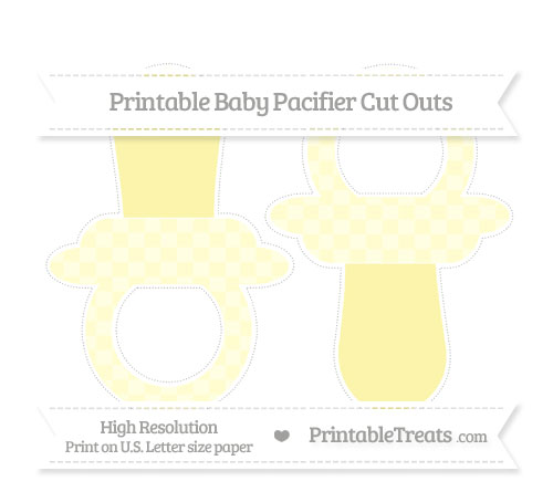 Free Cream Checker Pattern Large Baby Pacifier Cut Outs