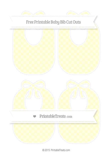 Free Cream Checker Pattern Medium Baby Bib Cut Outs