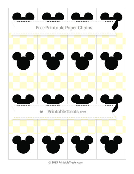 Free Cream Checker Pattern Mickey Mouse Paper Chains