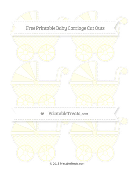 Free Cream Checker Pattern Small Baby Carriage Cut Outs