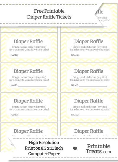 Free Cream Chevron Diaper Raffle Tickets