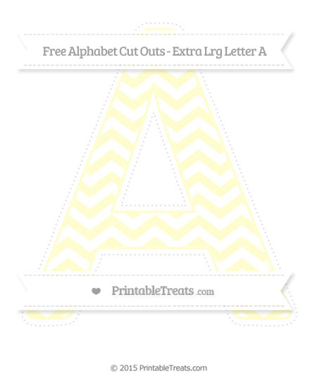 Free Cream Chevron Extra Large Capital Letter A Cut Outs