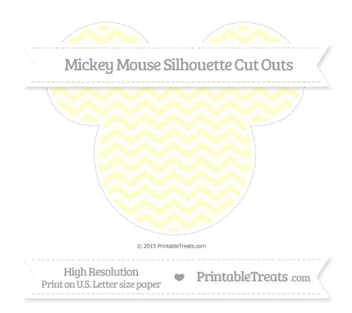Free Cream Chevron Extra Large Mickey Mouse Silhouette Cut Outs