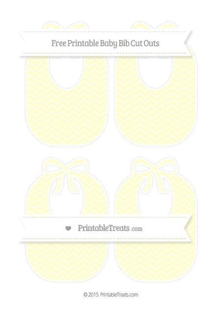 Free Cream Chevron Medium Baby Bib Cut Outs
