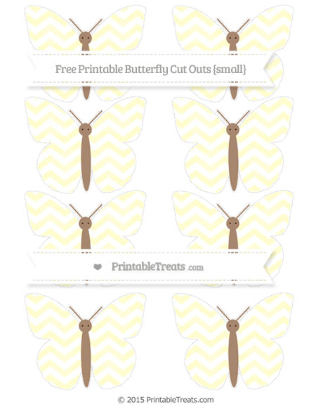 Free Cream Chevron Small Butterfly Cut Outs