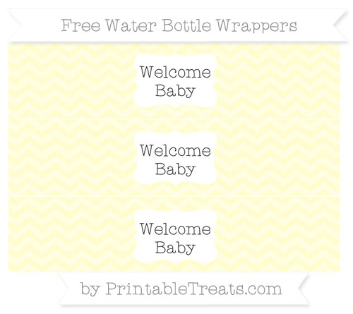 Free Cream Chevron Welcome Baby Water Bottle Wrappers